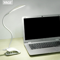 YAGE USB Led Table Lamp 14 LED Table Lamp With Clip Bed Reading Book Light LED
