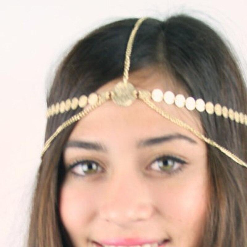 Indian Tribal Crystal Headband Fascinator Headpieces Wedding Hair Band Party