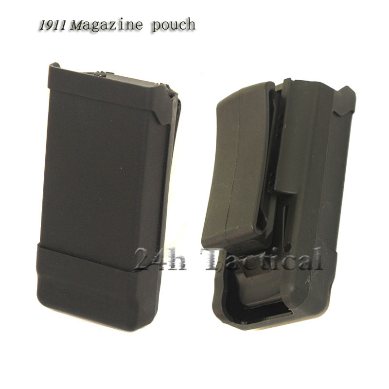 Quick Draw 1911 Single Magazine Pouch Case Belt Clip Holder Duty Belt Holster Mag Box for 1911 Hunting Accessories image