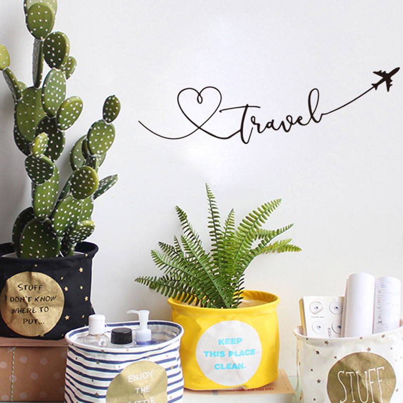 Heart travel vinyl wall sticker