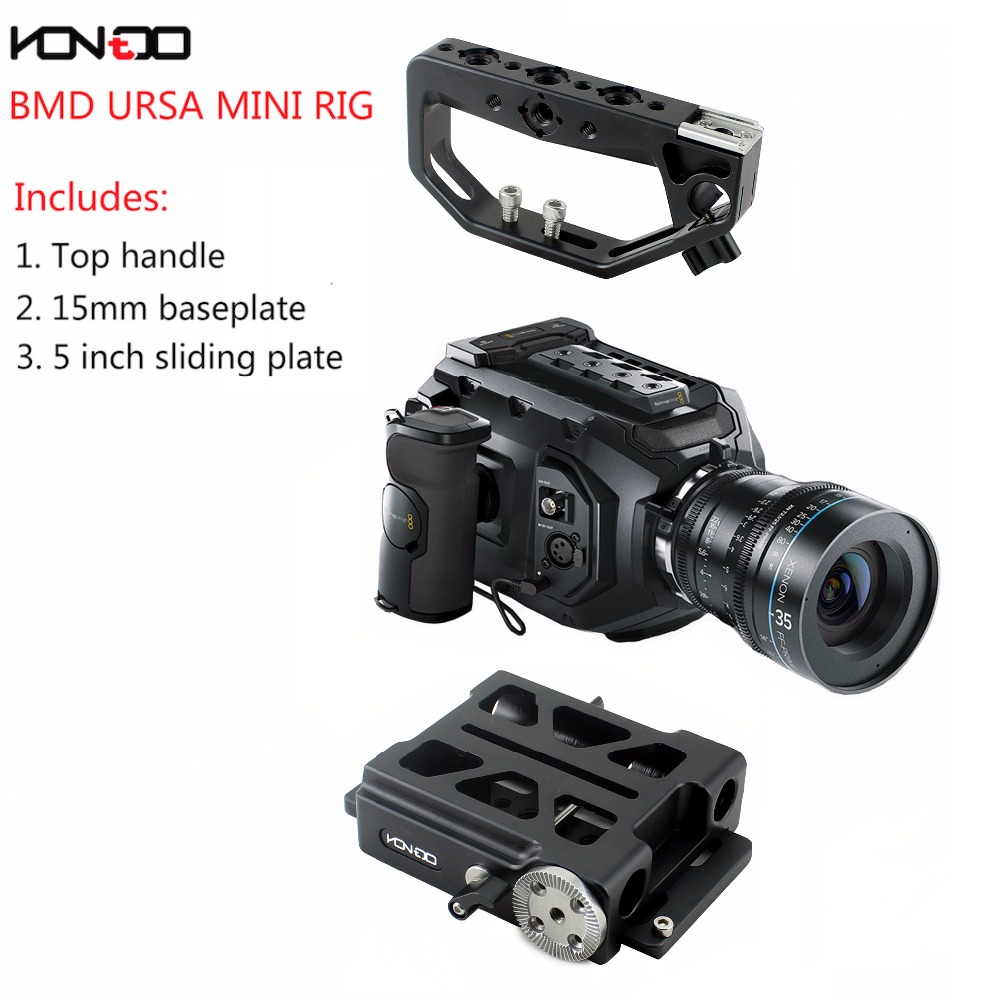 NEW URSA Mini Rig Basic Kit 15mm Baseplate + Top handle for BMD URSA Mini camera Film Video philips s307 black yellow