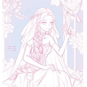 رائع فستان الزفاف اليد رسمت التلوين كتاب حالمة الزفاف قلم رصاص ملون خط الرسم كتاب تعليمي