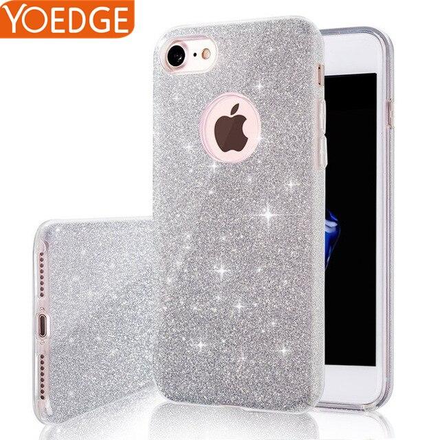 Ultra Thin Glitter Bling For <font><b>iPhone</b></font> X 8 4 4S 5 5S SE 6 6S <font><b>7</b></font> Plus Candy Cover Crystal Soft Gel TPU <font><b>Phone</b></font> Cute Cover