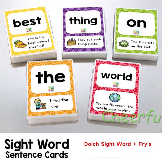 288pcs set sight words learning card games puzzles for kids children toys brain games juegos