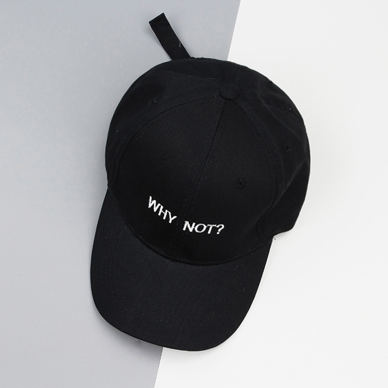 WHY NOT Letter Embroidery Baseball Cap Hip Hop Hat Men Women Dad Gorras Boy Girl Cotton Fitted Hats Bone Caps Golf Hats in Men 39 s Baseball Caps from Apparel Accessories