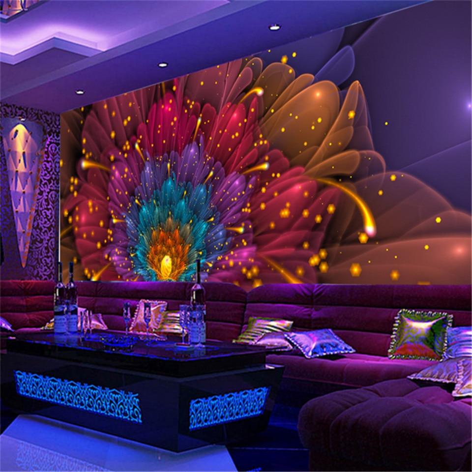 Custom 3d large high quality modern photo wallpaper hotel for Hotel club decor