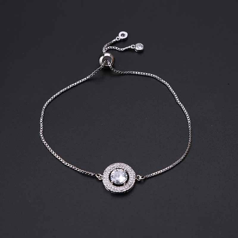 Aliexpress.com : Buy 1pc Fashion Box Chain White Crystal Bracelet ...