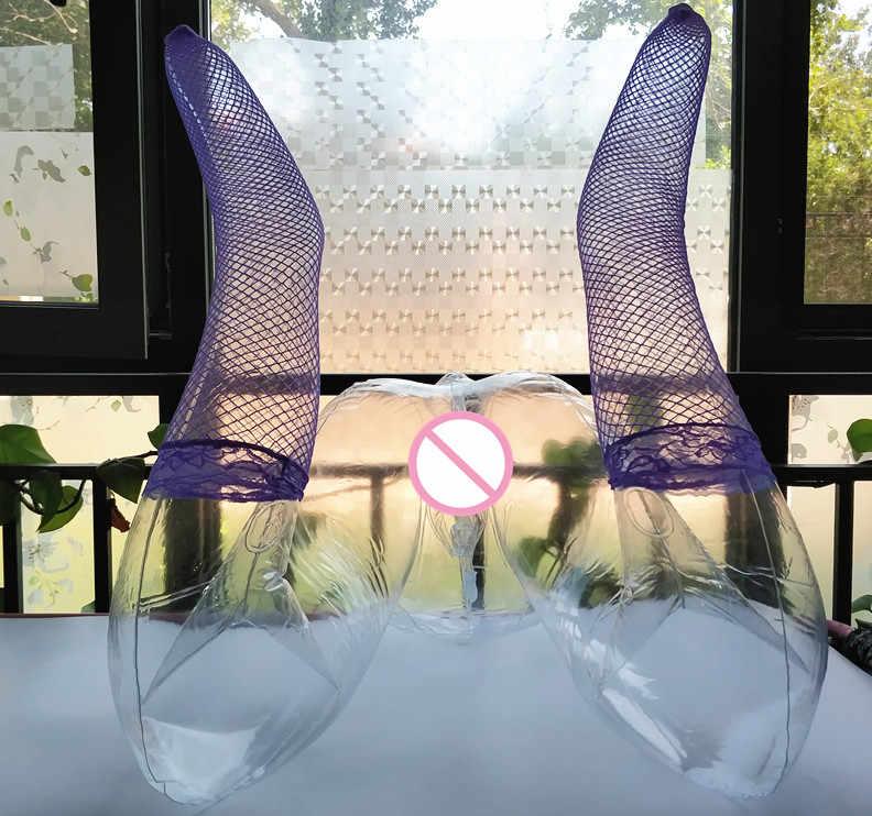 Muñeca sexual inflable transparente en forma de M, muñecas sexuales de PVC para hombres, Juguetes sexuales de silicona artificial en 3D para vagina y ano, masturbador masculino sexuelle