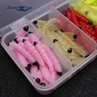 100pcs High Quality Fishing Lures bread bug Earthworm shrimp insect Soft Bait Suit Set Tackle Soft Bait and Tackle Box