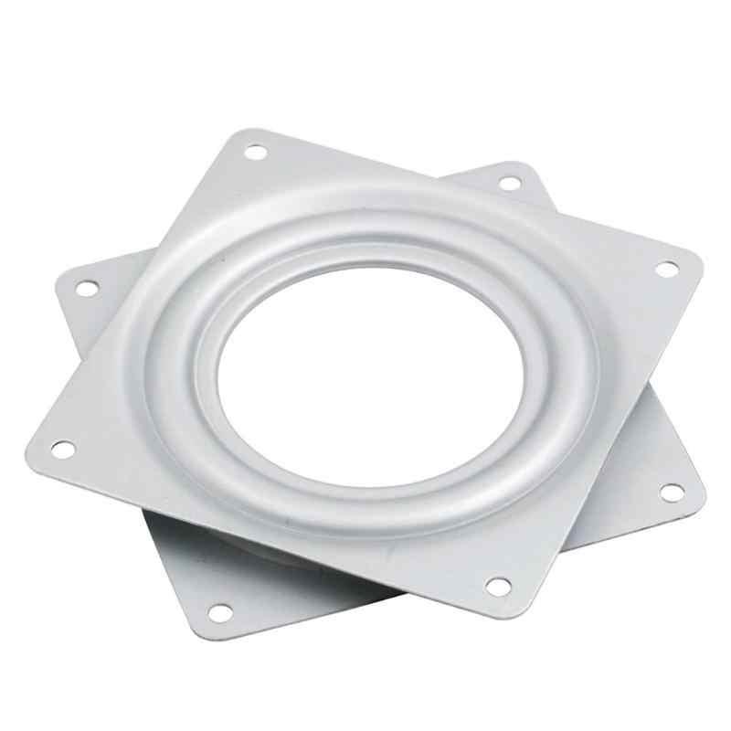 4.5 pouces carré exposition plaque tournante roulement plaques pivotantes Base projets mécaniques charnières mécanisme matériel montage outil rotatif