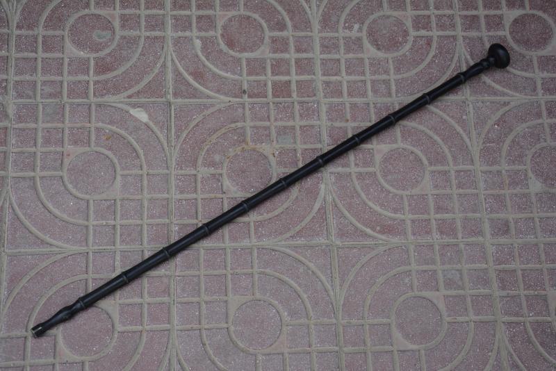 Rare old Chinese wood walking stick,Bamboo shape,Free shipping