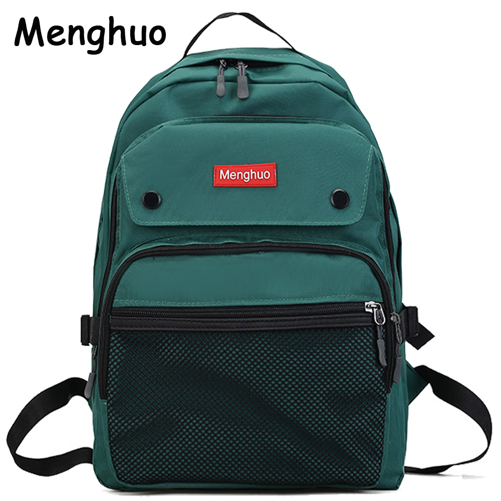 2017 Women Backpacks For Teenage Girls Youth Trend Schoolbag Student Bag Menghuo BRAND Nylon Waterproof Laptop Backpack Mochilas women backpacks for teenage girls youth daypacks new school shoulder bag student nylon waterproof laptop multifunction backpack
