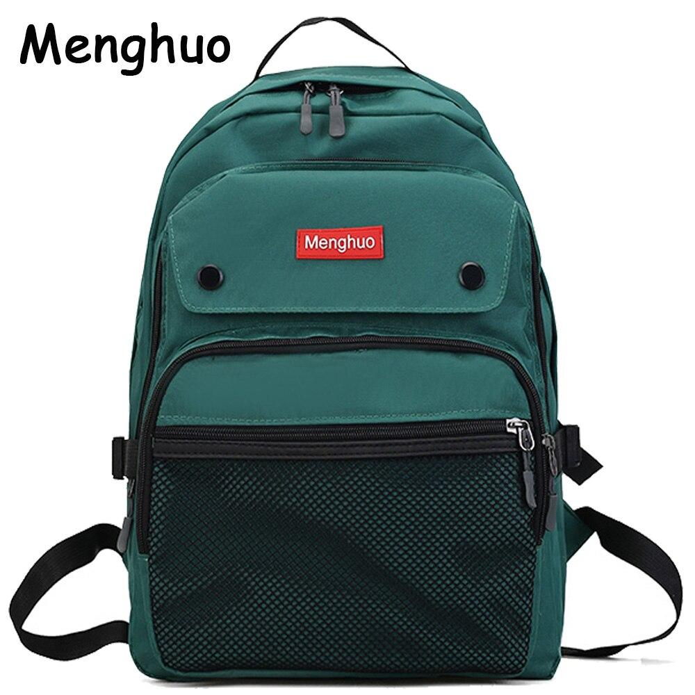 2017 Women Backpacks For Teenage Girls Youth Trend Schoolbag Student Bag Menghuo BRAND