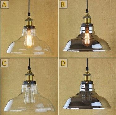 ✅Loft arte vidrio droplight industrial vintage Iluminación Lámparas ...