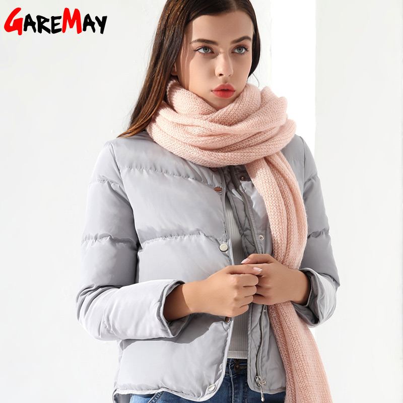 Womens Down Coat Female Jacket Short White Winter Coat Chaqueta Mujer Warm Outwear Clothing For Women Jacket Down Parka Garemay