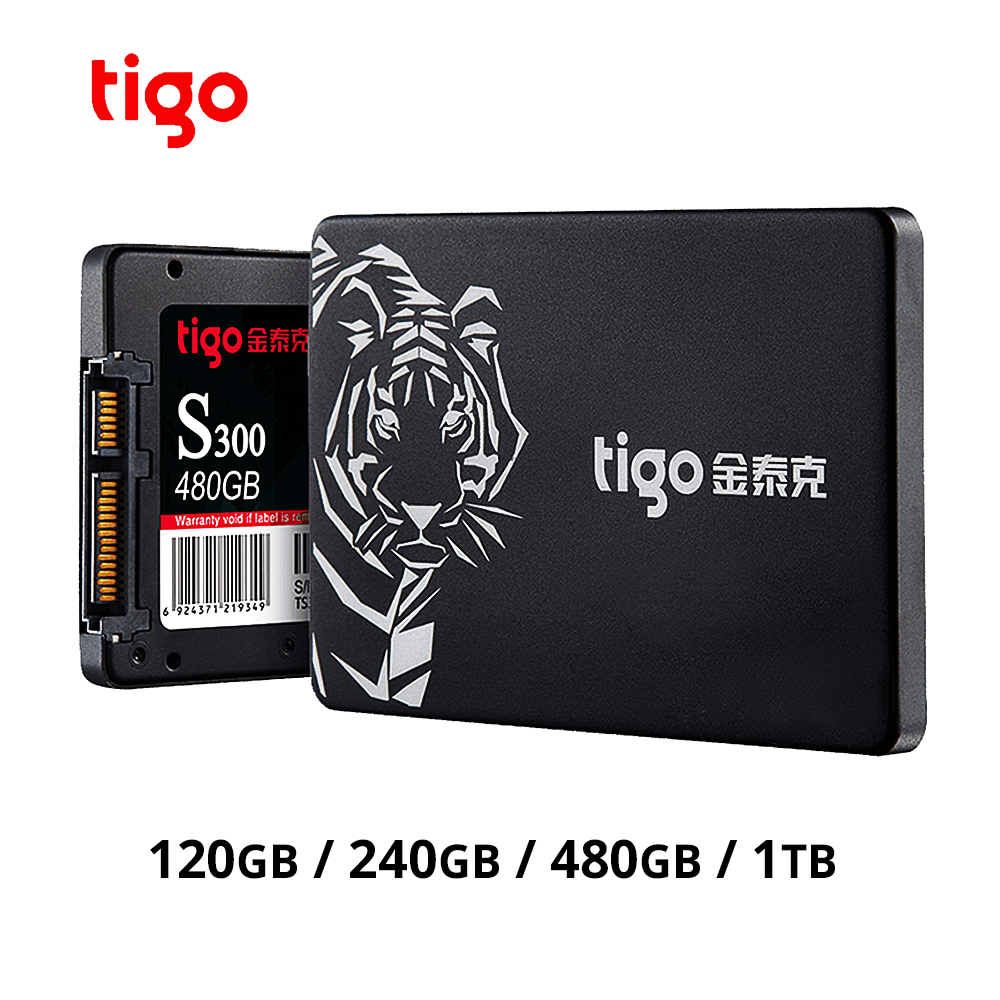 Tigo <font><b>SSD</b></font> 1tb 240GB <font><b>120GB</b></font> 480GB SATA Hard Disk Internal Solid State Drive for Desktop Laptop PC better than HDD SATA 3 image
