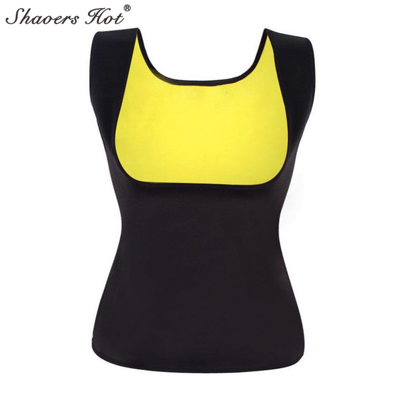 Neoprene Sweat Sauna Hot Body Shapers Vest Waist Trainer Slimming Run Vest Shapewear Weight Loss Waist Shaper Sports running