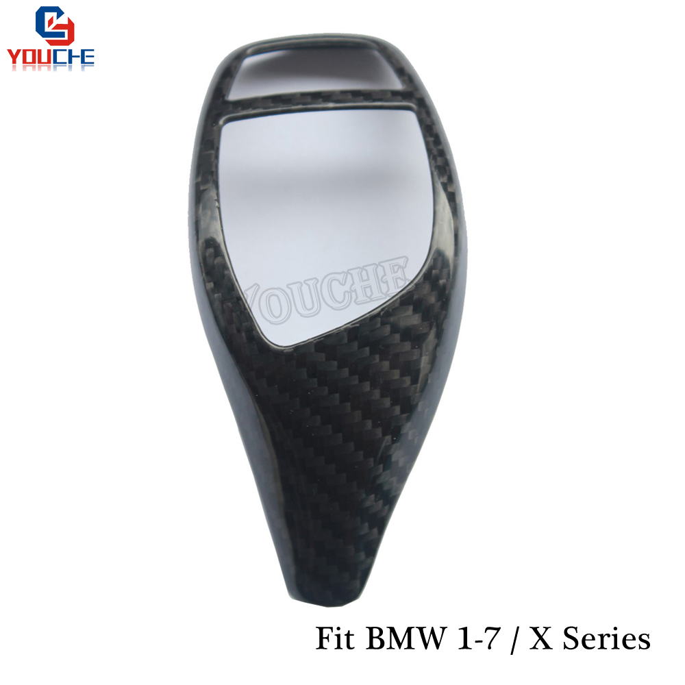 Carbon Fiber Gear Shift Knob Cover Sticker for BMW 1 3 Series F30 F10 F20 F22