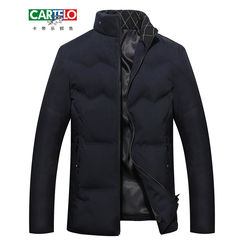 CARTELO 2017 Winter Men's Jackets Thick Male Warm Parkas Men Thermal Slim Fit Coats Solid Jacket Men Brand Outerwears FB17001G03 free shipping winter parkas men jacket new 2017 thick warm loose brand original male plus size m 5xl coats 80hfx