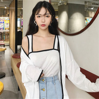 Shein Promotion O Neck Full Women Tops Blusas New Spring And Summer Women S 2018 Sunscreen