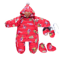 Christmas Winter Baby Rompers Girls Clothes Thickening Cartoon Down Romper Newborn Girl Warm Infant Snowsuit Kids Jumpsuit long