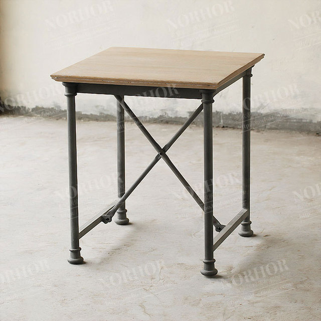 Beau The Mediterranean Style Knot Oak Coffee Table And Side Tables Wrought Iron  Wrought Iron Wood