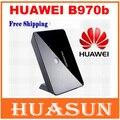 Dhl frete grátis original desbloqueado huawei b970b b970 3g wifi wireless router hsdpa gateway sem fio 4 interface rj45