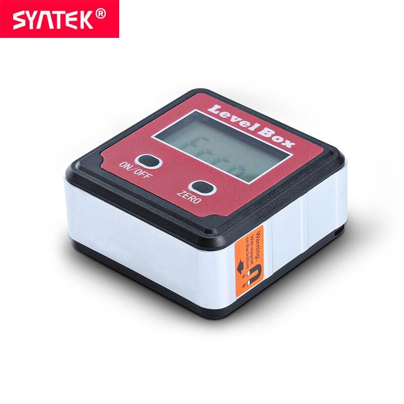 Syntek Rode Precisie Digitale Gradenboog Inclinometer Level Box Digitale Hoekzoeker Bevel Box met Magneet Base Automatische LCD CE