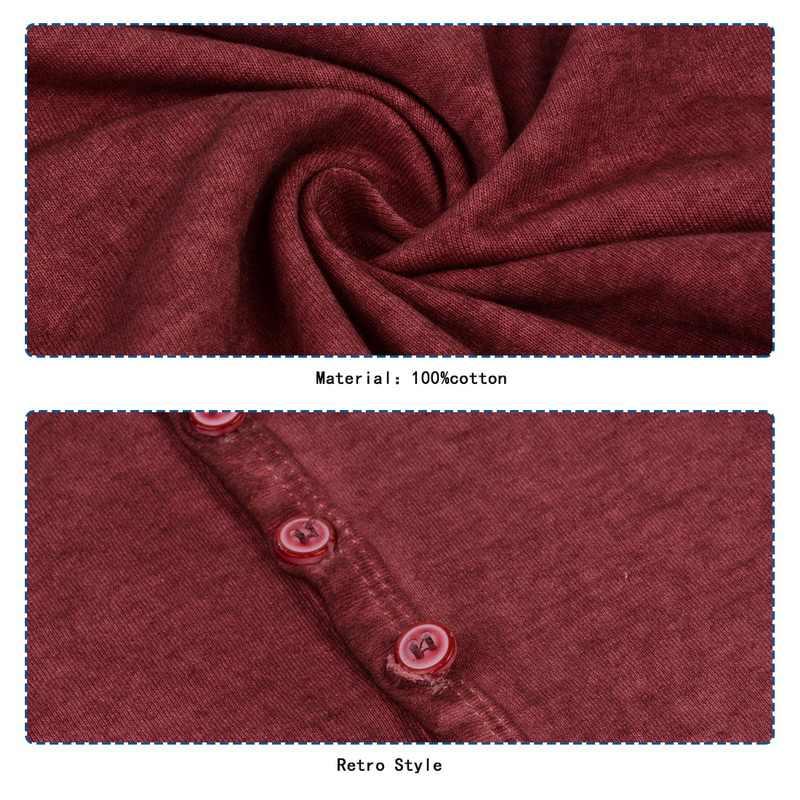 LASPERAL ブランドヴィンテージ Tシャツ男性カジュアル V ネックボタントップス & Tシャツファッション長袖ストリートおかしいスリムフィット Tシャツ特大