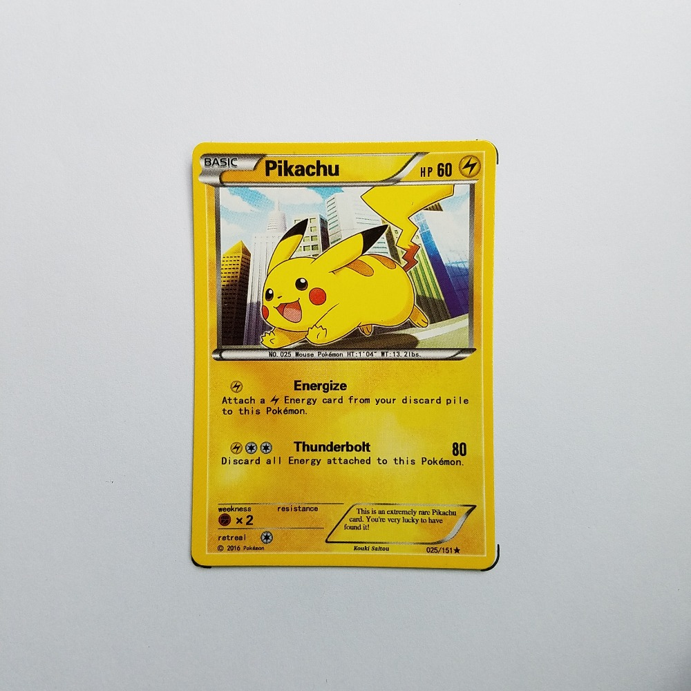 Pokemon Card Single Sale A10006 Pikachu Electrical Properties Basic Ordinary Card Play Anime Toys Cards Game Trading Collection