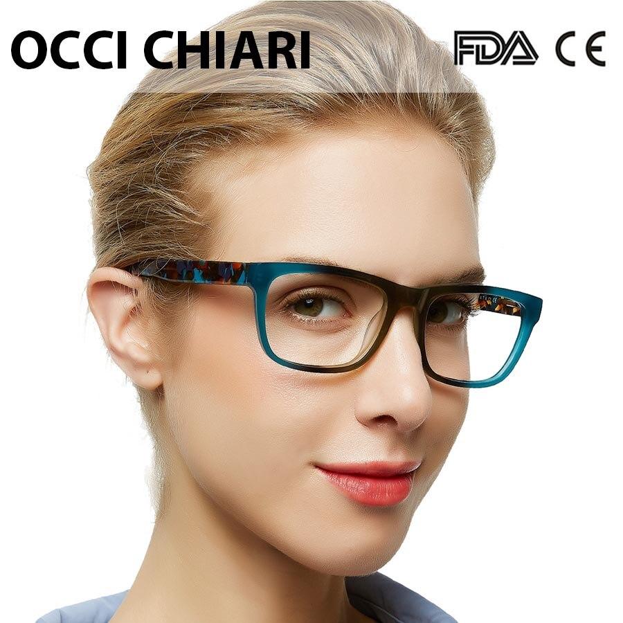 OCCI CHIARI High Quality Acetate Eyewear Prescription Glasses Optical Glasses Clear Eyeglass Woman Computer Frame W-ZELCO