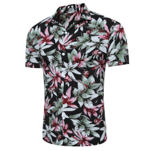 ZOGAA Hot Sale Guys Floral Print  Shirt 2019 Young Men Short Sleeve Shirts Fashion Summer Male Single Breasted Blouses S-3XL