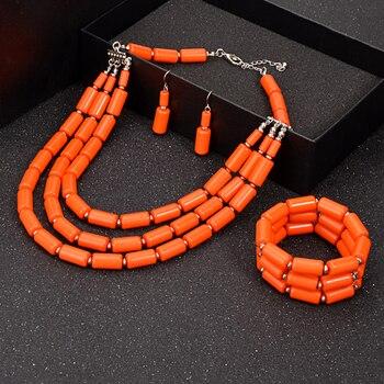 Des couleurs flashi pour 1 ensemble de bijoux en perles collier boucle d'oreille Bracelet africain tendance 3