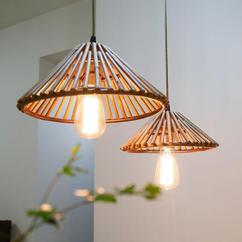 Retro style Bamboo Pendant Light Dinning Room Suspension Lamps Bar Restaurant Study Kitchen Office Pendant Lamp 110V 220V 240V chinese style bamboo pendant light dinning room suspension lamps bar restaurant study kitchen office pendant lamp