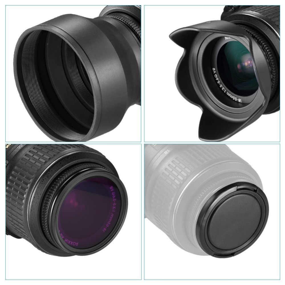 กรองเลนส์ Neewer 52 มม.ชุดอุปกรณ์เสริมสำหรับ NIKON D7100/D7000/D5300/D5200/D5100/D5000/D3300/D3200/D3100/D3000/D90/D80 กล้อง DSLR