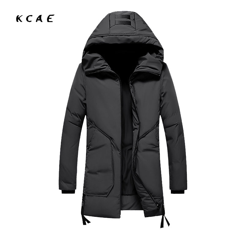 Winter new Men's jacket Korean version of the self-cultivation thick long jacket 90% white duck jacket  warm Winter coat цены онлайн