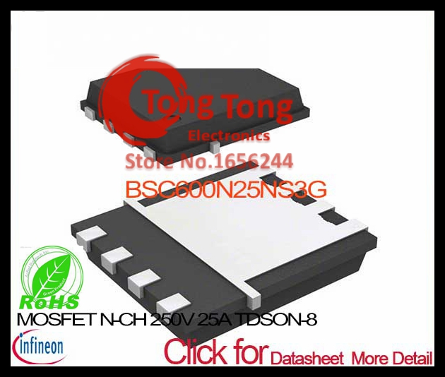 25 Items Trans MOSFET N-CH 250V 25A Automotive 8-Pin TDSON EP T//R BSC600N25NS3G