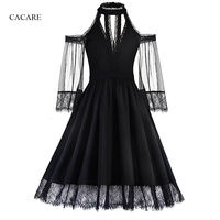 Lace Dress Women Summer 2018 Black Formal Dress Women Elegant Simplee Runway Dress 2018 F0211 Halter Neck