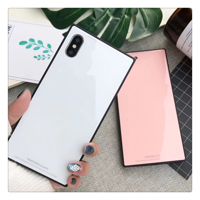 release date 16053 59bcd US $4.22 |Luxury Tempered Glass Case For iPhone X 8 8Plus 7 7Plus Square  Cases For iPhone 8 8Plus Cover Coque iPhone XS Max Capa Fundas-in ...