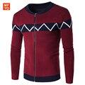 Nova queda 2016 Mens Camisolas do Casaco de Design Especial de Alta Qualidade Para Homens Cardigan Camisola de Malha Roupas Frete grátis