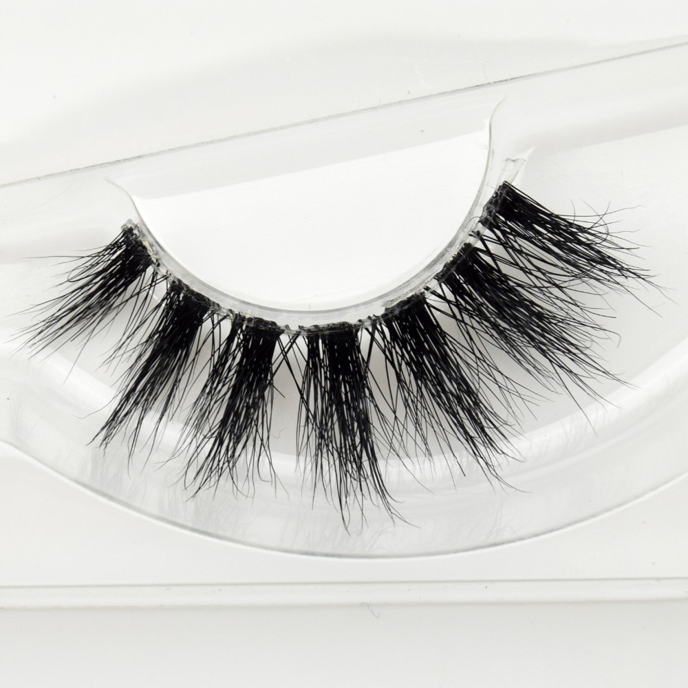 Visofree Mink Lashes 3D Mink Eyelashes Invisible Band Natural Black Mink False Eyelash Full Strip Cilios Posticos Reusable F41