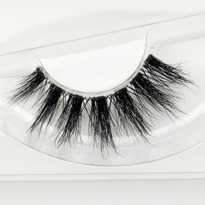 Image 1 - Visofree Mink Lashes 3D Mink Eyelashes Invisible Band Natural Black Mink False Eyelash Full Strip cilios posticos Reusable F41