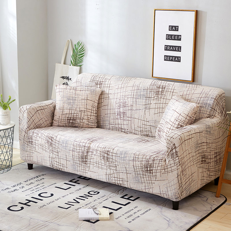 Elastic Spandex Couch Cover with Tight Wrap for Sectional and Corner Sofa in  Living Room 3