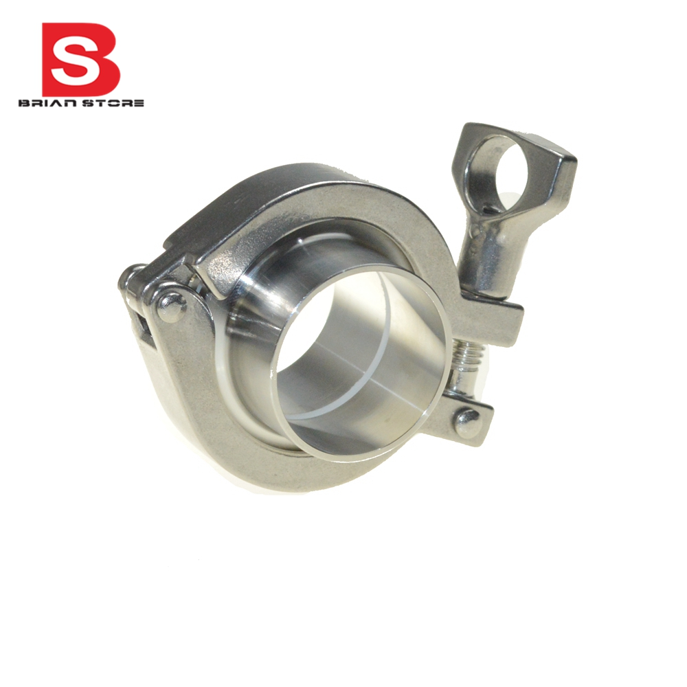 Triclamp SS Sanitary Flange Pipe  Weld Welding Ferrule Tri Clamp  PTFE  Or Silicone Gasket  Stainless Steel SUS SS 304