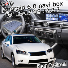 Android 6.zero GPS navigation field for Lexus GS 2012-2017 and so forth video interface with knob mouse contact management LVDS GS450h GS350 GS300h