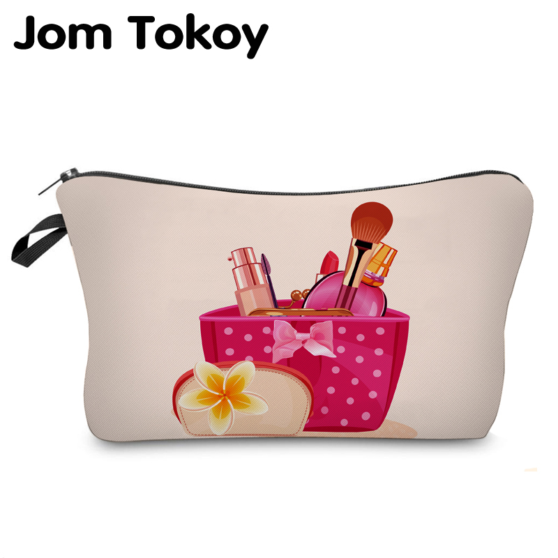 Jom Tokoy 2018 cosmetic organizer bag make up box wiz 3D printing Cosmetic Bag Fashion Women Brand makeup bag unicorn 3d printing fashion makeup bag maleta de maquiagem cosmetic bag necessaire bags organizer party neceser maquillaje