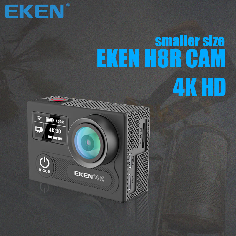 Original EKEN H8R Ultra HD Action Camera with 4K 30FPS Resolution and 30m waterporoof 2.0 Screen cam go sport Camera pro DVR eken h8 h8r ultra hd 4k 30fps wifi action camera 30m waterproof 14mp 1080p 60fps dvr underwater go helmet extreme pro sport cam