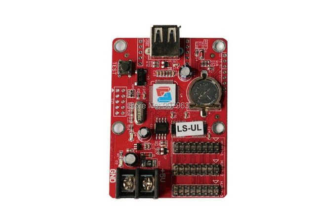 USB led display controller LS-UL(USB) support single color 1024*16 ,320*48 pixel