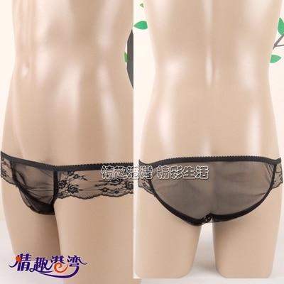 2016  new men's underwear sexy appeal perspective underwear briefs gauze men briefs transparent dress lace