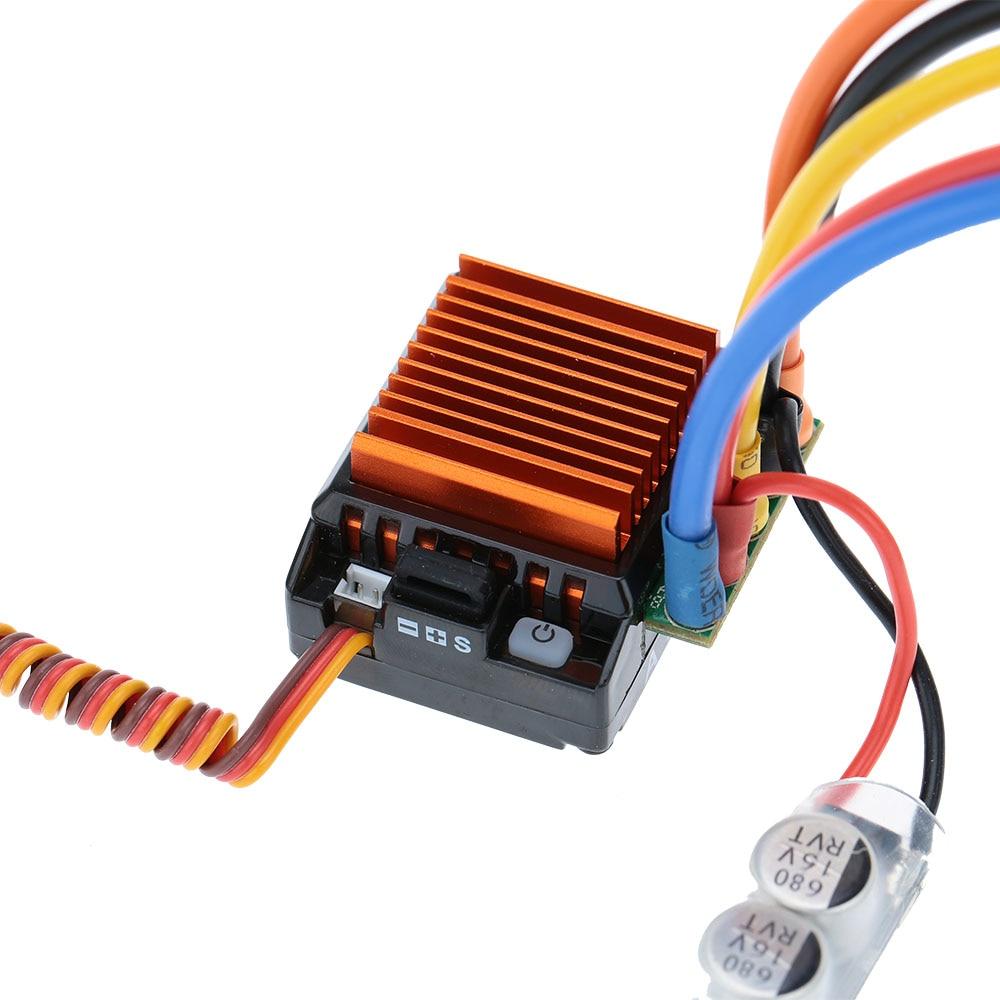 SkyRC 4000KV 8.5T 2P Sensored Brushless Motor+CS60 60A Sensored Brushless ESC+LED Program Card Combo Set for 1/10 1/12 RC Car hobbywing quicrun 1 10 brushless sensored 60a esc 10 5t motor combo for car